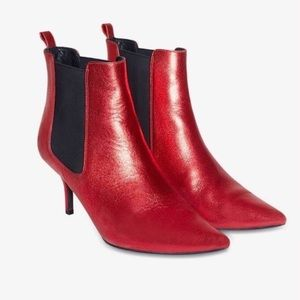 Anine Bing Stevie Boots in Metallic Red